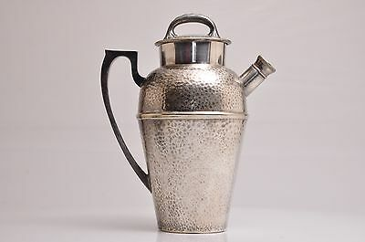 """Vintage Bernard Rice's Sons Apollo Epns Silver Hammered Cocktail Shaker 9""""h"""
