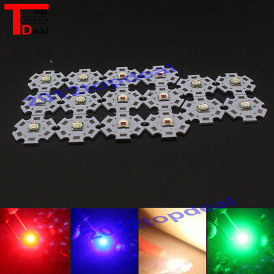 10W 5050 Emitter Diodes Red Green Blue UV white 32.-3.6V 3A LED 20mm star