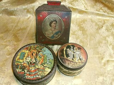 Lot of 3 Vintage Tins including 1953 Coronation Tin