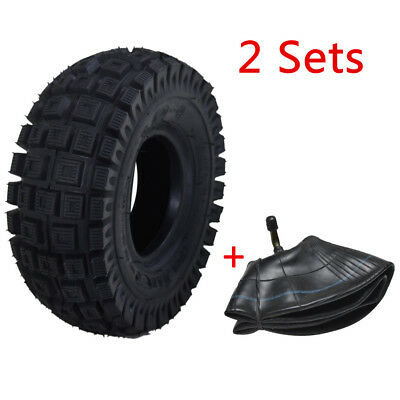 "2x 3.00-4"" inch Tyre Tire With Tube For Minimoto Pocket Quad ATV Gokart Scooter"