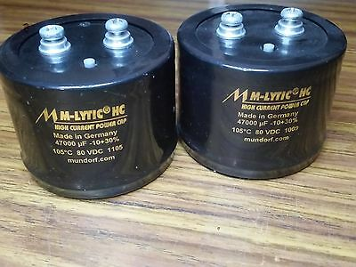 MUNDORF ELECTROLYTIC CAPACITOR 47000µF 80Vdc - lot of 2