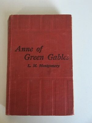 Vintage hardback book ANNE OF GREEN GABLES by L.M. Montgomery
