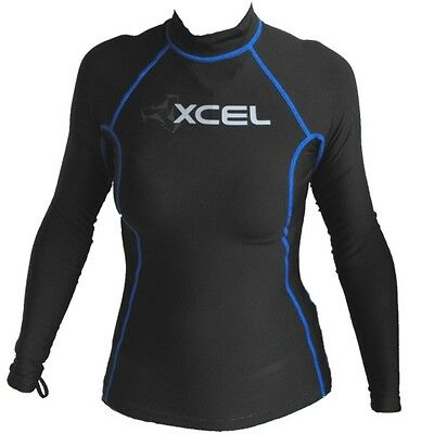 Xcel Ladies Polypro Long Sleeved Rash Vest NEW Thermal Womens Girls top