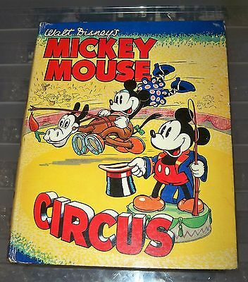 Very rare vintage Walt Disney Mickey Mouse Circus Book hardback Annual lovely