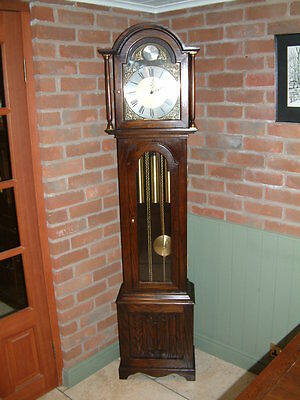 Jaycee Oak Grandfather Clock Furniture FREE DELIVERY AVAILABLE