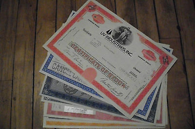 10 diff. United States old paper stocks & bonds certificates nice used & unused