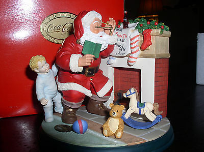 Coca-Cola 'Please Pause Here' Santa at the Fireplace Figurine