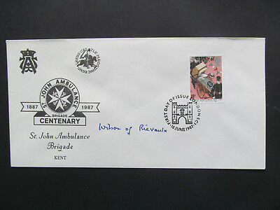 GB 1987 St John's Ambulance First Day Cover - Signed: Harold Wilson. Former PM.*