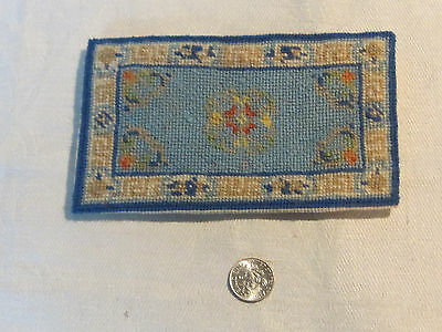 1:12 scale dollhouse miniature handmade petit point Oriental small area rug