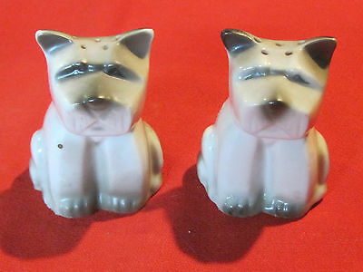 Funky stylized vintage Deco dog salt & pepper shaker figurines