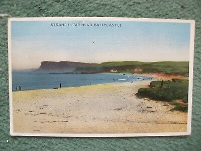 Strand E-Fair Head,Ballycastle,postcard.