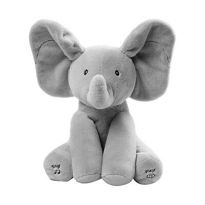 Baby Elephant Peek-A-Boo Pal Animated Flappy The Elephant Plush Toy with Music