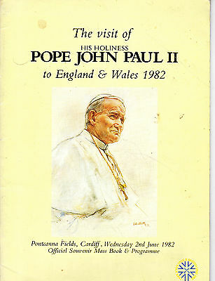 OFFICIAL SOUVENIR PROGRAMME - POPE JOHN PAUL II VISITS CARDIFF (2nd June 1982)