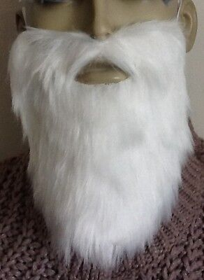 White Beard Fancy Dress Accessory. Wizard, Gnome, Old,  Uk Seller