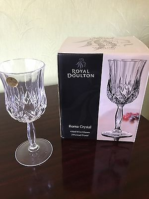 Royal Doulton Roma Crystal Red Wine Glasses (set Of 4)