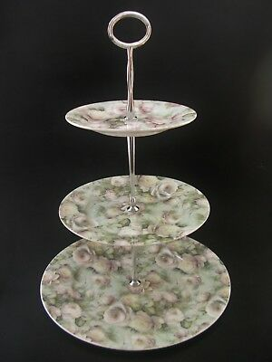 Maxwell Williams Misty Rose Fine Bone China 3 Tier Cake Plate Stand High Tea