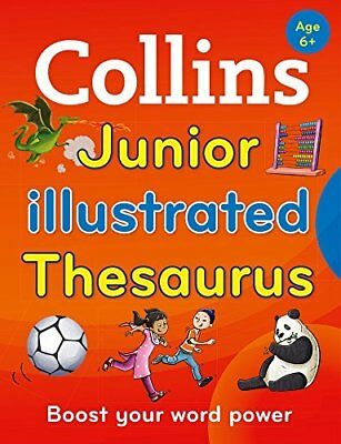 Collins Junior Illustrated Thesaurus by Collins Dictionaries New Paperback Book