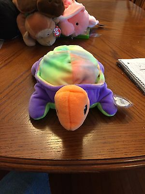 Snap The Tie Dyed Turtle Beanie Baby Pillow Pal!  New, Never Displayed! Nice!