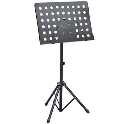 Heavy Duty Orchestral Sheet Music Stand Holder Height Adjustable Tripod Base, SS