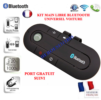 Kit main libre bluetooth voiture road Mulitpoint Universel IPHONE SAMSUNG NOKIA
