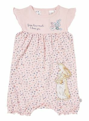 """""""GUESS HOW MUCH I LOVE YOU"""" PINK ROMPER. NWT. 0-3, 3-6m"""