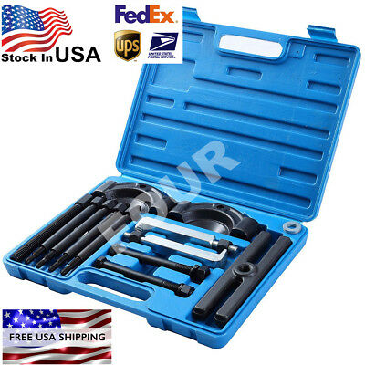 14 pc Gear Puller and Bearing Separator Splitter Tool Kit With Case US Free Ship