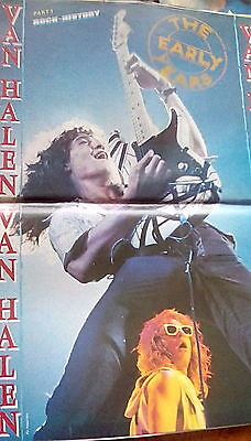 Van Halen 5 Page Article The Early Years from 1987 Music Magazine