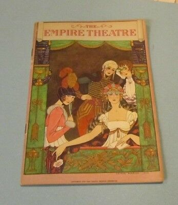 1926 Easy Virtue Broadway Show Program Empire Theatre Jane Cowl Noel Coward Play