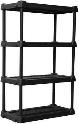 Blue Hawk Freestanding Shelving Unit 4 Tier Shelf 56.5-in H x 36-in W x 18-in D