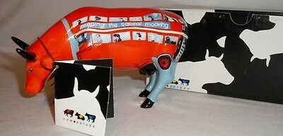 Cow Parade - London - Cowbus -  Cow Figurine - Mint In Box #7321
