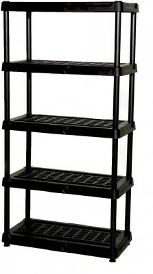 Blue Hawk Freestanding Shelving Unit 5-Tier Shelves 72-in H x 36-in W x 18-in D