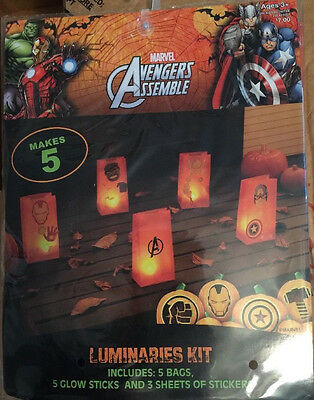Marvel-Avengers-Assemble-Luminaries-Kit-Makes-5-Bags-Glow-Sticks-and-Stickers-3+