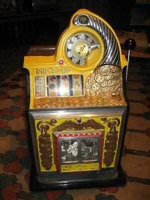 Antique Watling Rol-A-Top Coin Front 5c Slot Machine