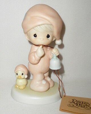 Precious Moments - A Special Chime For Jesus Figurine - Boy With Bird