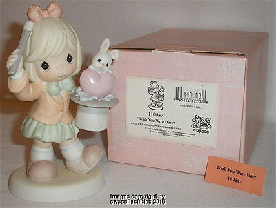 Precious Moments - Wish You Were Hare - Girl Pulling Rabbit Out Of Hat Figurine