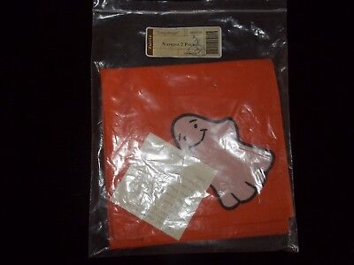 1 (ONE) MIP Longaberger Halloween Happy Ghost Cloth Napkin Unused Replacement!