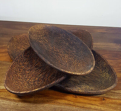 Coconut Wood Serving Dish Set,Home Storage,Rustic Bowls,Interior Decor,Gifts