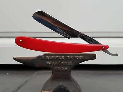6/8 Mann & Federlein vintage straight cut throat razor custom scales