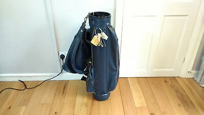 Vintage Leather Wilson Professional Golf Bag + 9 Irons 87cm 34""