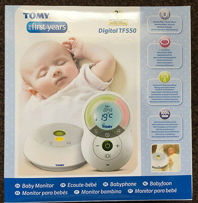 Digital Baby Monitor Tomy TF550 Alarm Night Light Thermometer Clock LCD Display