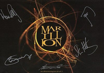 Marillion Autographs. Pete, Ian, Mark, Steve, & Mr H. Excellent Condition!!!