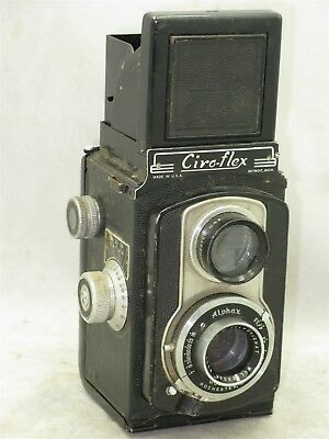 Ciro Cameras Ciro-Flex 120 TLR Camera with Wollensak 85mm f3.5 Lens With Case