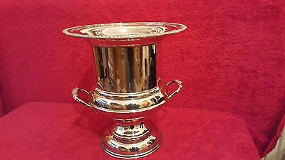 Early 20th c Campana form Wine Cooler. Sheffield Silver plate on Copper