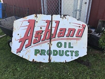 Vintage 4x6 Ashland Oil Products Sign