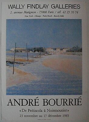 Affiche ANDRÉ BOURRIÉ 1985 Exposition Wally Findlay Galleries
