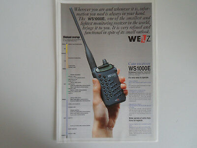 Welz Ws1000E (Genuine Leaflet Only)...........radio_Trader_Ireland.