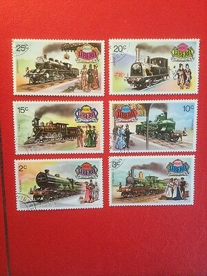 Liberia Trains Postage Stamp Set