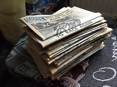 COLLECTION OF 51 x 1968 ISSUES OF MCN MOTOR CYCLE NEWS - ONLY 1 ISSUE MISSING
