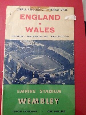England Vs Wales Football Programme 1962