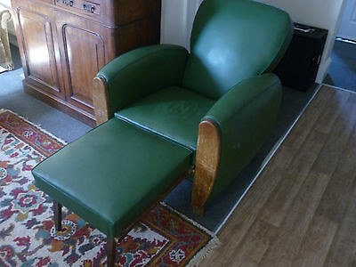 Reclining Club Chair,Art deco.unusual,antique,bed,lounger,